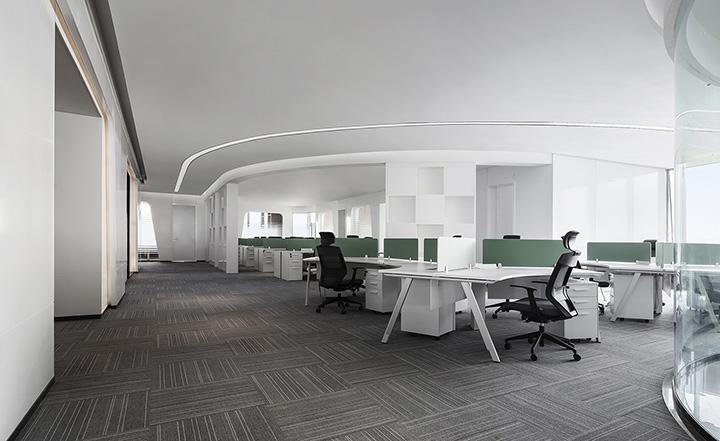 3000平面现代简约风格办公室装修图片