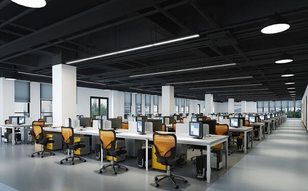 宝山办公室装修色彩搭配的设计原则
