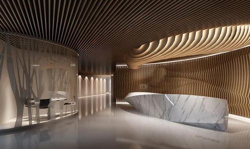 上海装饰公司之办公室设计玄关风水