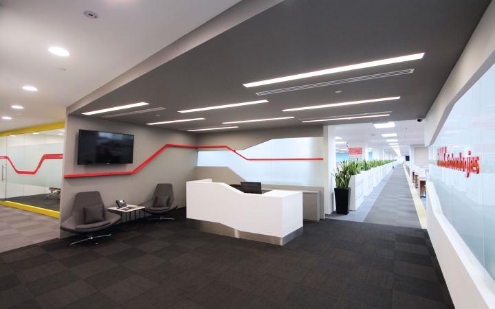 简洁明快能源公司办公室设计效果