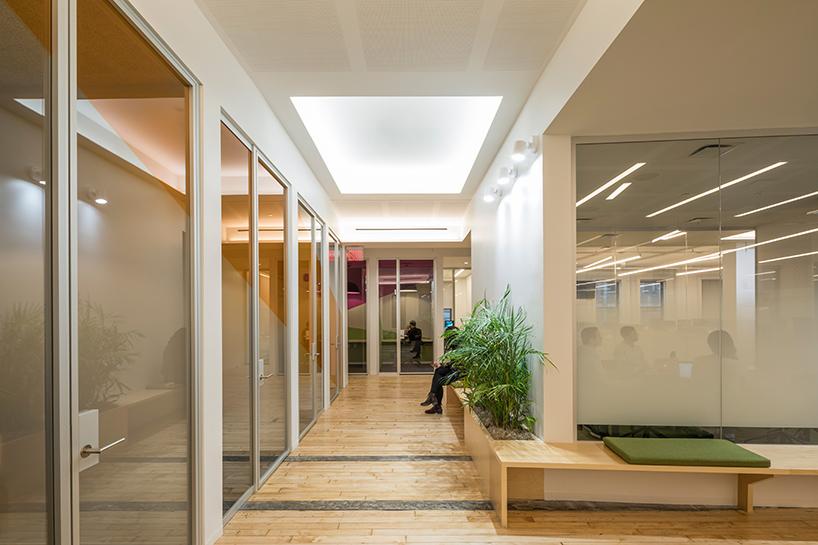 软件公司走廊过道设计效果图