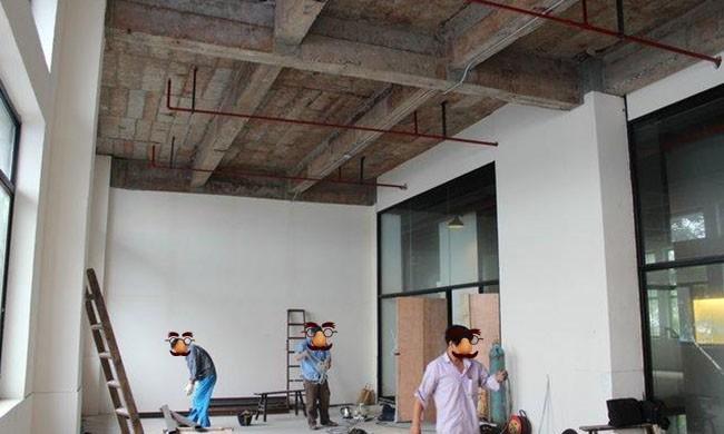 松江漕河泾550平米办公楼装修设计施工