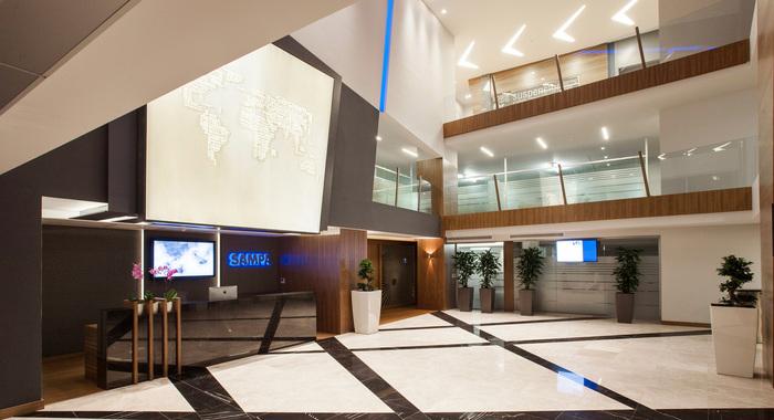 上海办公楼装修设计图片之美洲公司办公室
