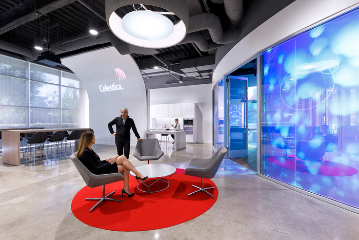 浦东办公室装修效果图之电子公司办公室