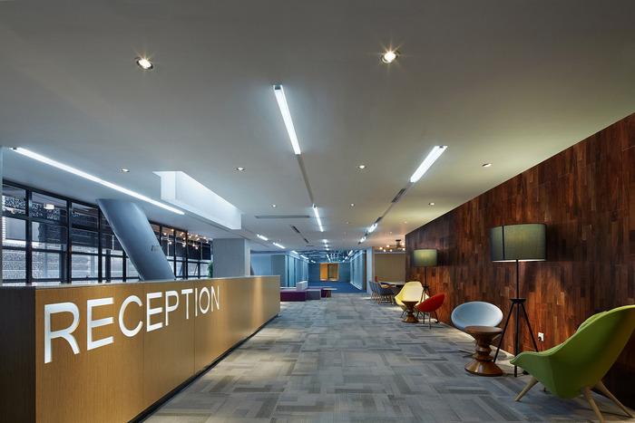 浦东办公室装修效果图之环保公司总部办公室
