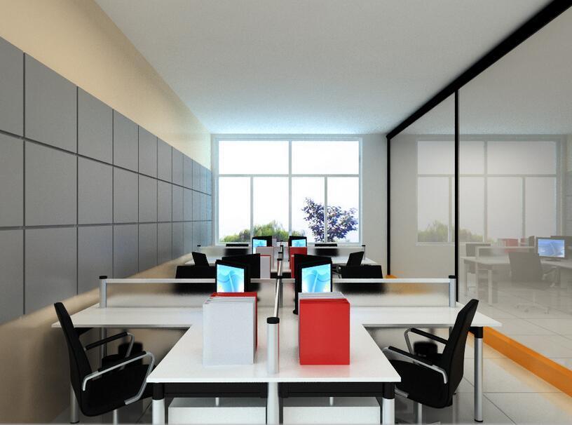 100平米办公室装修效果图/实景图