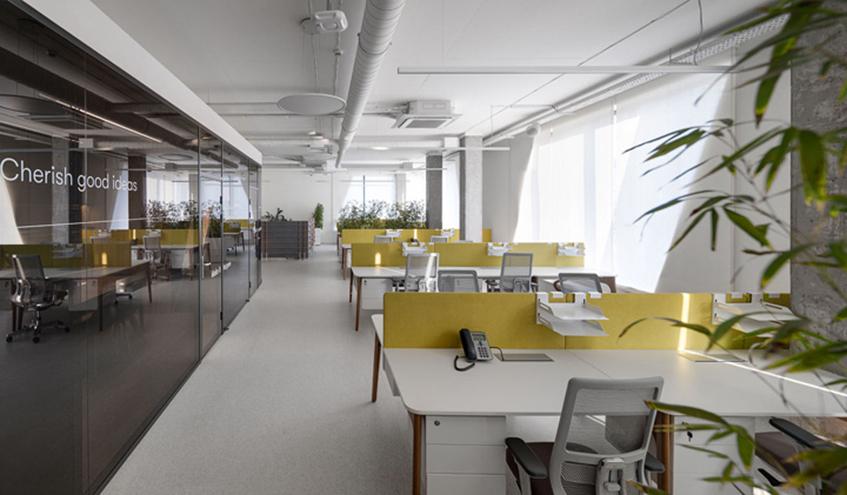 200平米办公室装修设计效果图/实景图