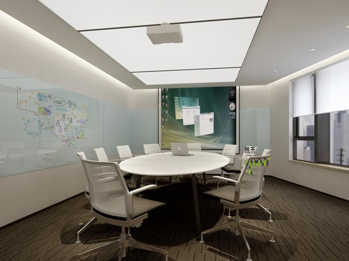 互联网媒体办公室接待室装修设计效果图