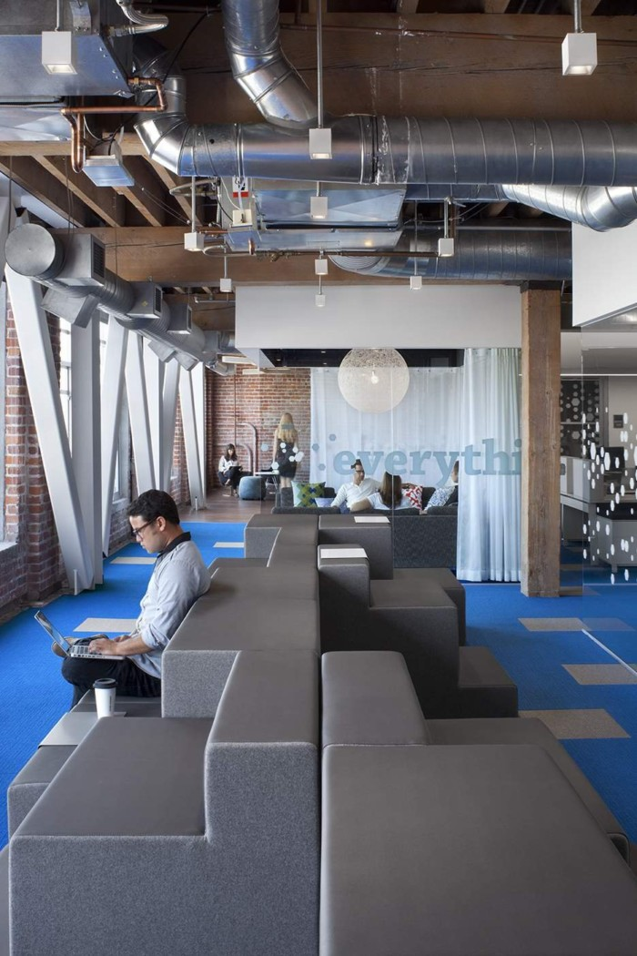 上海办公室设计公司 紋理時尚,脈動辦公靈魂