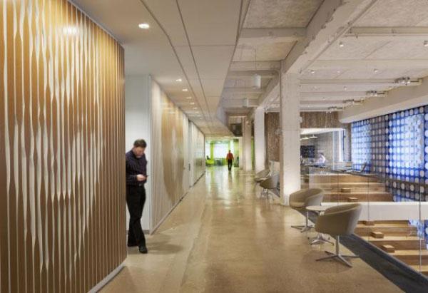 不同的辦公區是不同的主題顏色