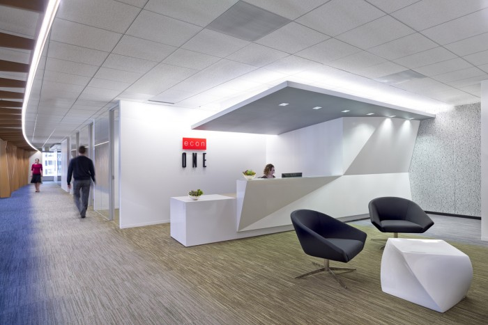 個性辦公空間設計的前臺接待區