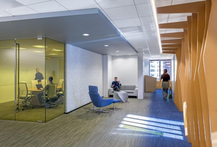 整個個性辦公空間設計私密性極佳