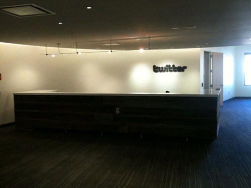twitter辦公空間室內設計接待大廳
