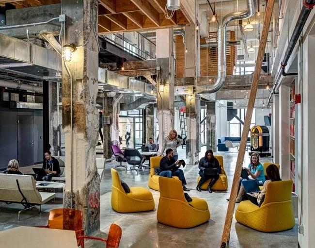 坐在這個創意辦公空間設計裏辦公,濃濃穿越感