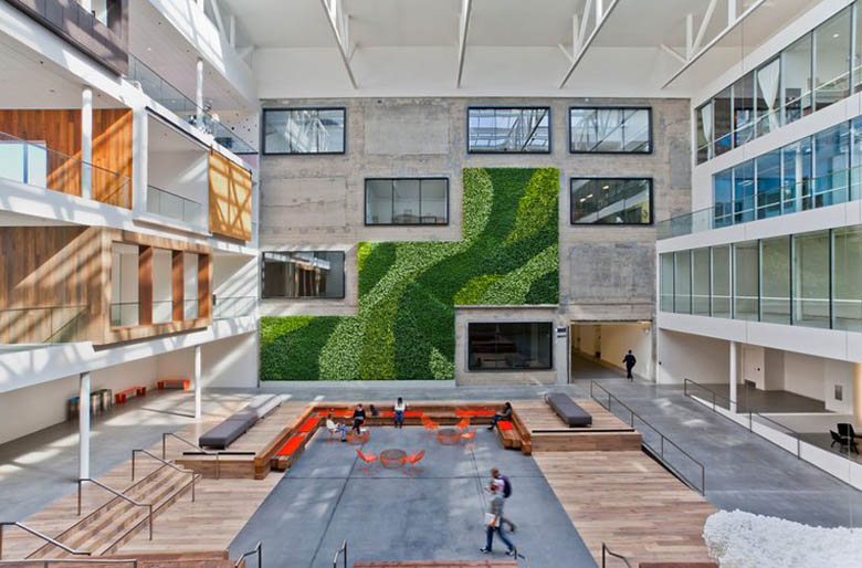 四合院式辦公空間設計效果