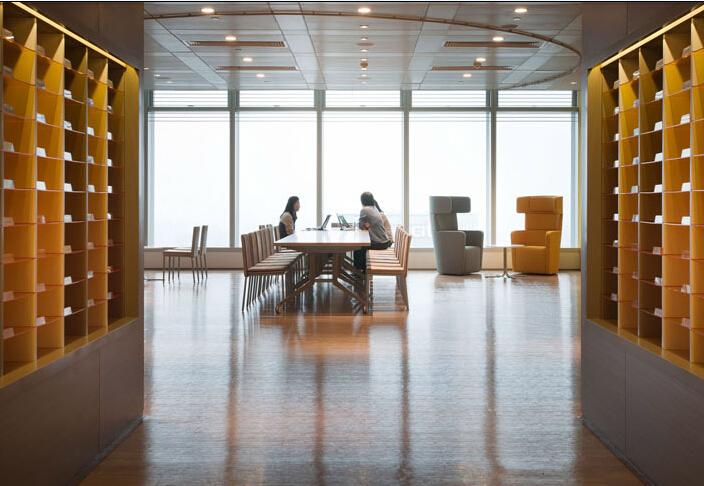 就像壹幅風景畫的辦公空間設計