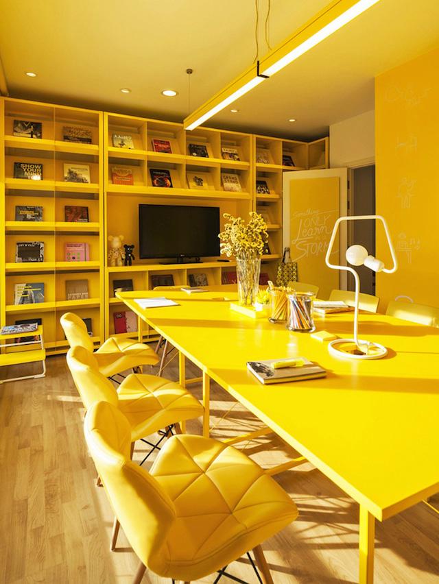 炫酷特色辦公空間核心是色彩