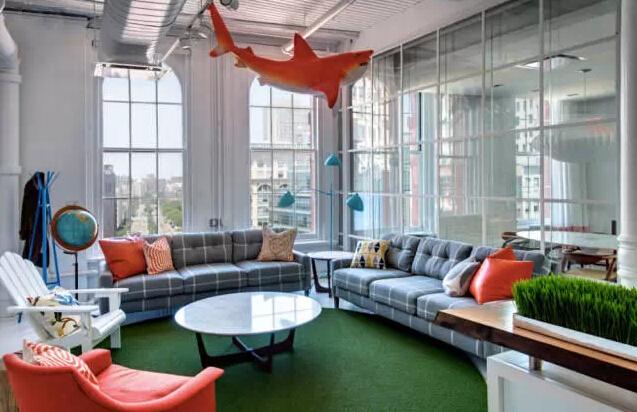 這樣的時尚辦公空間,客戶也舍不得離開