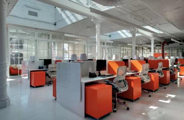 橙是唯壹的辦公空間設計色彩