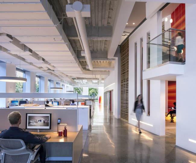 協作是這個辦公空間設計參考原則之壹