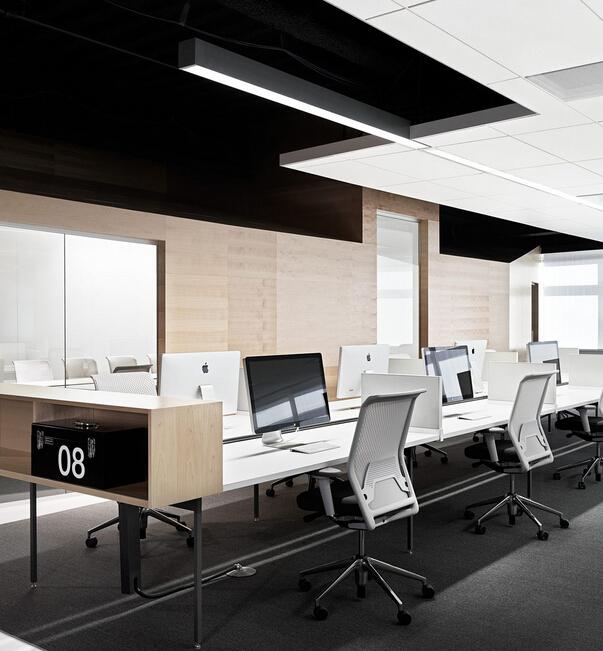 黑白純凈的辦公空間設計原則