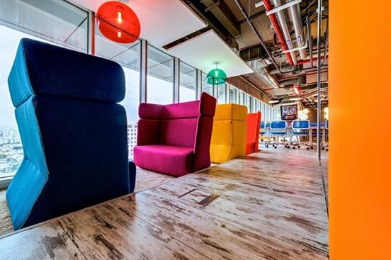 五彩繽紛的辦公空間設計色彩