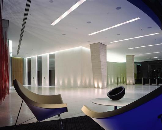 令人驚艷的時尚辦公空間裏接待區