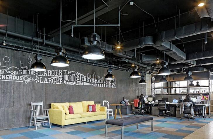 分區處理的辦公空間設計規劃