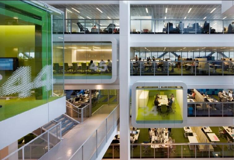 獨立而時尚的辦公空間區域