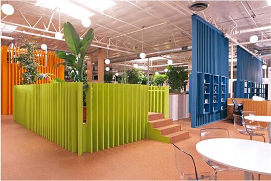 成功制造了辦公空間設計布局上的視覺興趣點