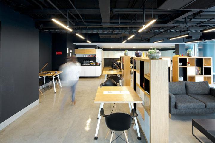 用於思考、善於溝通協作的時尚辦公空間環境