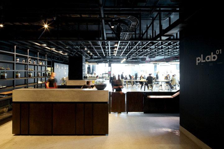 露臺是人性化辦公空間設計的壹大亮點