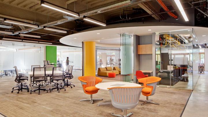 上海写字楼装潢- 開放式協作辦公空間,美國AT&T鑄造公司辦公車間
