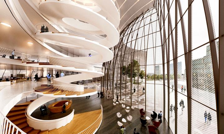 上海写字楼装修- 巴黎法國世界報(lemonde)辦公總部確定方案