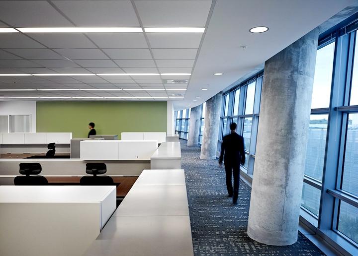 上海写字楼装修- 幾何架構現代辦公空間,FBI美國南佛羅里達州總部