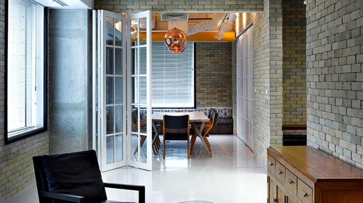 上海写字楼装潢- 休閒現代工業風設計,Bates141辦公室設計案例