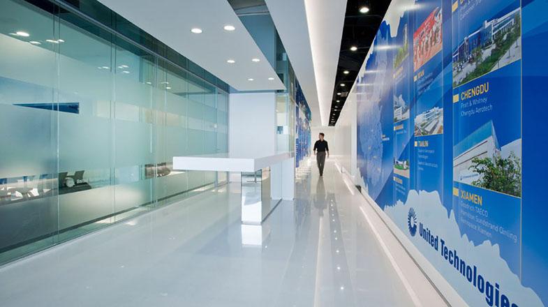 上海办公楼装修- 美國聯合技術公司(UTC)上海總部辦公室設計