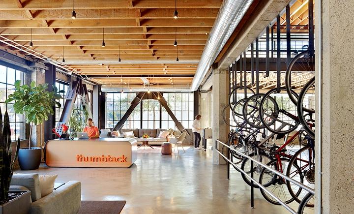 上海办公楼装修- 人性化空間設計,美國Thumbtack公司辦公室案例