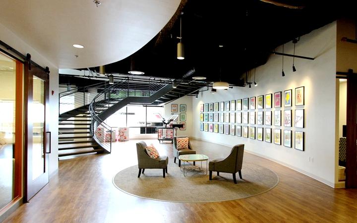 上海写字楼装修- 如社區般的連通性辦公空間,CustomInk新總部辦公室設計