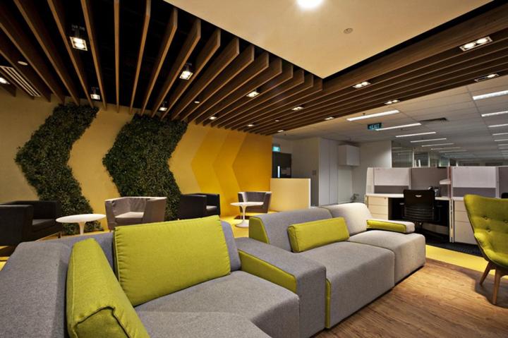上海办公楼装修- 新加坡SingTel聯絡中心