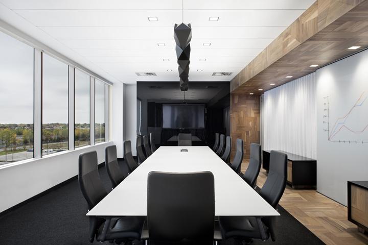 上海写字楼装潢- 現代簡約原木風設計,加拿大Broccolini辦公室
