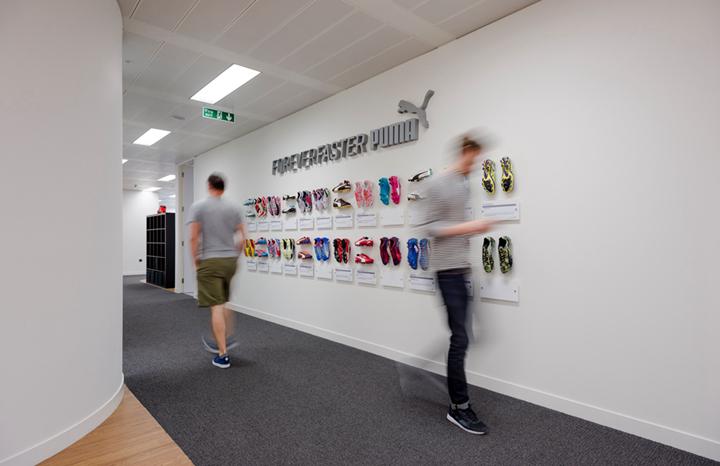 上海写字楼装潢- 空間一體化辦公設計,PUMA彪馬英國辦公室