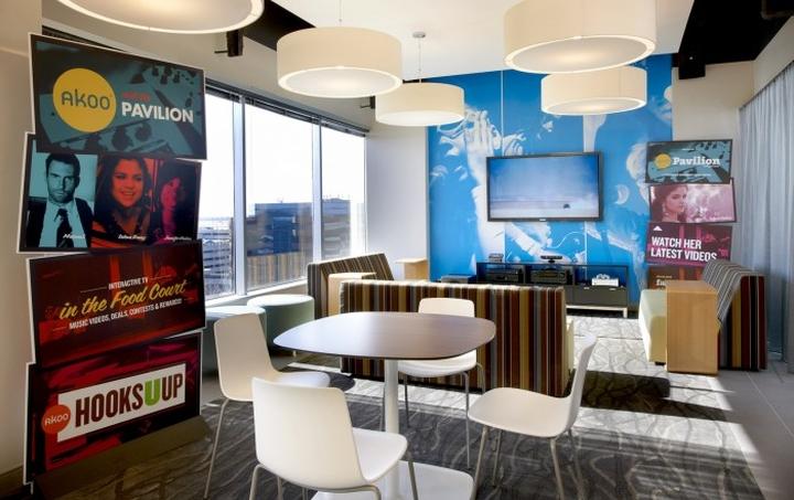 上海办公楼装修- 多彩活力辦公設計,美國Akoo國際公司辦公室