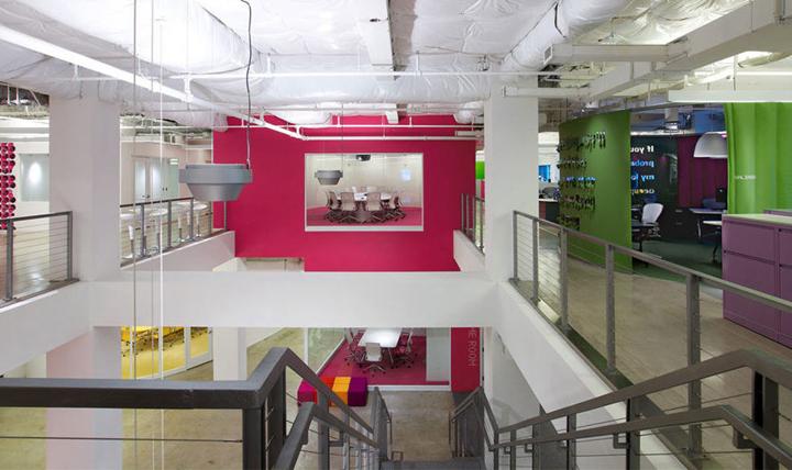上海办公楼装修- 用辦公空間向人講故事,JWT(智威湯遜)廣告公司總部辦公室