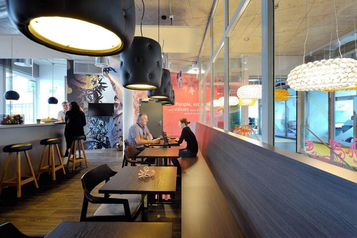 上海写字楼装潢- 玩美彩色混搭空间设计,瑞士联合利华办公室