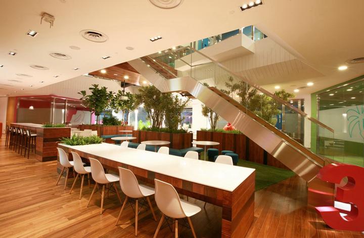 上海写字楼装潢- 暖色居家風,新加坡聯合利華辦公室