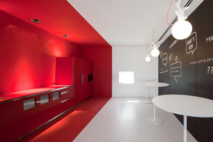 上海写字楼装修- 現代流線型辦公空間,FraunhoferPortugal辦公設計