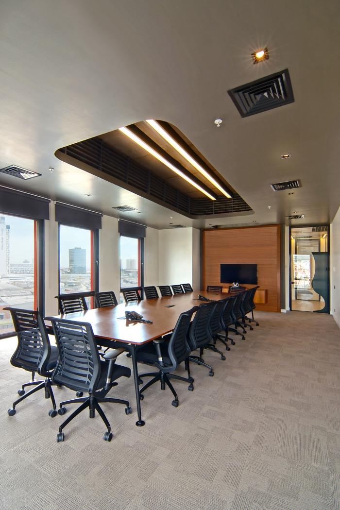上海办公楼装修- 現代簡約空間設計,GürallarLAV玻璃制造公司辦公室