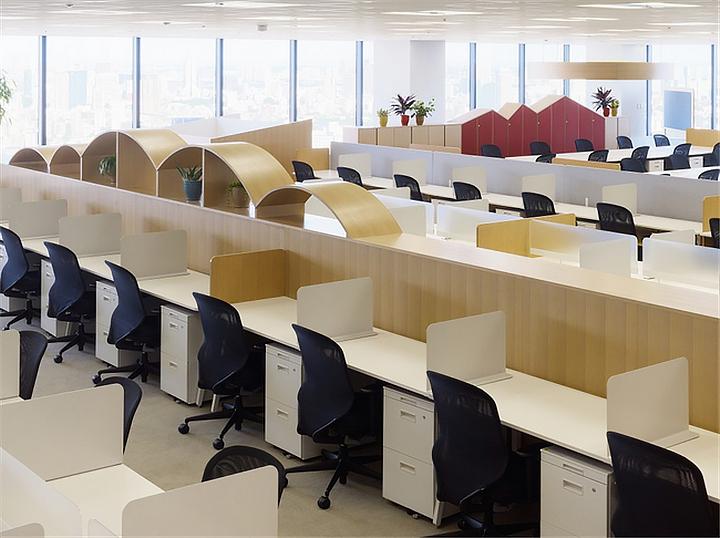 上海写字楼装潢- 日本涩谷MedibaCreativeFarm办公空间设计