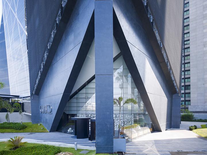 上海写字楼装潢- 不規則幾何寫字樓設計,墨西哥Cube2辦公大樓